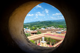 View of the roofs of Trinidad Cuban city from the window of the tower