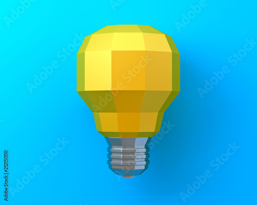 3d bright lamps against a blue background.