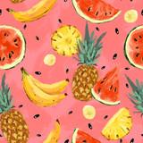 Seamless summer watermelon abstract pattern - 212150313