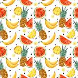 Seamless summer watermelon abstract pattern - 212151790
