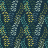Background with floral motif. Vector texture with hand drawn plants. Vector pattern. - 212155709