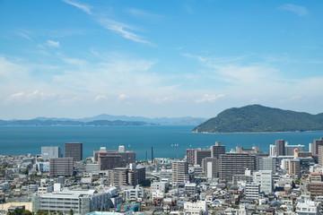 Cityscape of Takamatsu city,Kagawa,Shikoku,Japan © F.F.YSTW