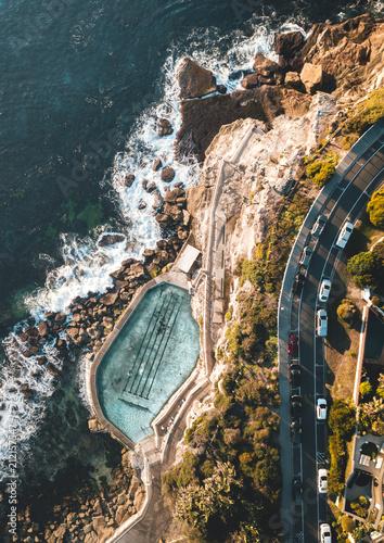 Bronte beach bath aerial