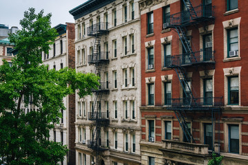 Brick buildings in Morningside Heights, Manhattan, New York City.