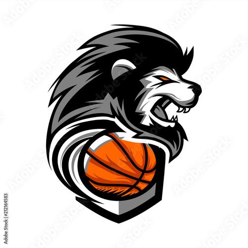 Fototapeta Lion Basketball Team Logo