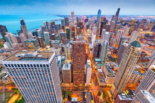 Fotobehang Chicago Chicago, Illinois, USA Aerial Cityscape