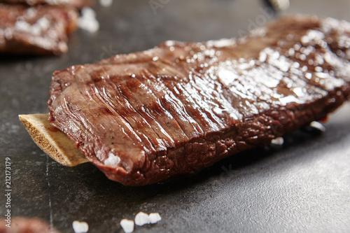 Fotobehang Bison Hot Grilled Whole Flank Steak