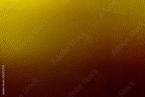 Fototapeta Golden & Black shade genuine leather texture background.