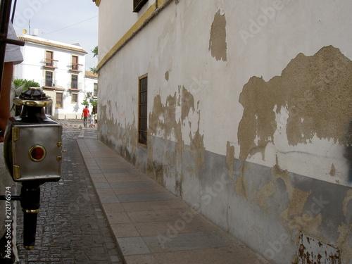 Aluminium Smalle straatjes Cordoue, Espagne.