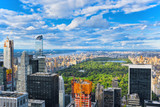 View of Central Park in Manhattan from the skyscraper's observation deck. New York. - 212190106
