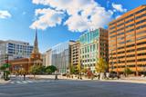 Washington, USA, New York Avenue Presbyterian Church and urban cityscape of the city. - 212190388