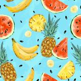Seamless summer watermelon abstract pattern - 212203392