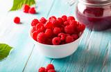 raspberry berry jam fresh  sweet berry wooden art background