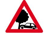 Schild Achtung Baum