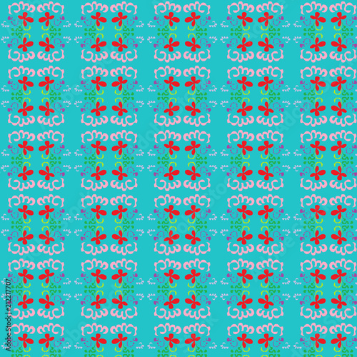 Grean pattern.  Green abstract background | colorful graphic illustration | intersecting stripes texture for fabric garment backdrop web theme template wallpaper digital painting or concept design - 212217707