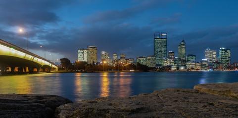 Night view of Perth, Western Australia © Alex