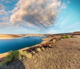 Beautiful colors of Lake Powell and Glen Canyon Dam, Arizona - 212222730
