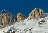 Snowy Landscape of Dolomites Mountains during Winter - 212222746