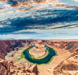Horseshoe Bend on a sunny day, Page, AZ - USA - 212222924