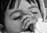 Baby Girl Sleeping in the Pram - 212222980
