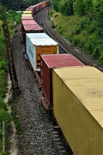 Aluminium Spoorlijn Güterzug - Gleise - Bahnverkehr