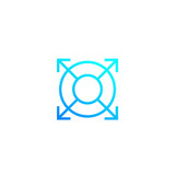expand, increase line icon - 212247507