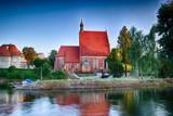 Kościół na wyspie Młyńskiej w mieście Bydgoszcz, Polska - 212258702
