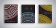 Abstract brochure designs with striped designs