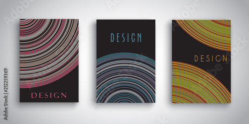 Poster Abstract brochure designs with striped designs