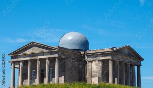 Poster City Observatory on Calton Hill in Edinburgh
