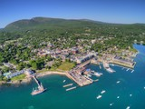 Bar Harbor is a Tourist Town on the Maine Coast by Acadia National Park