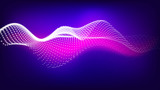 Abstract  noise wave points with depth of field. Futuristic digital illustration. Technology points waveform. - 212297515
