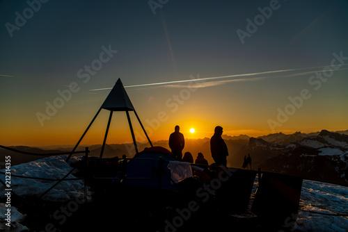 Plexiglas Zonsopgang Sonnenaufgang auf dem Buochserhorn