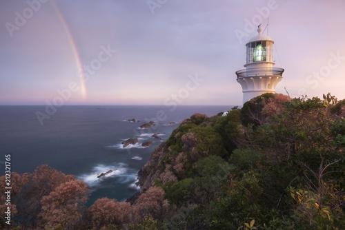 Fotobehang Vuurtoren Sugarloaf Point Lighthouse