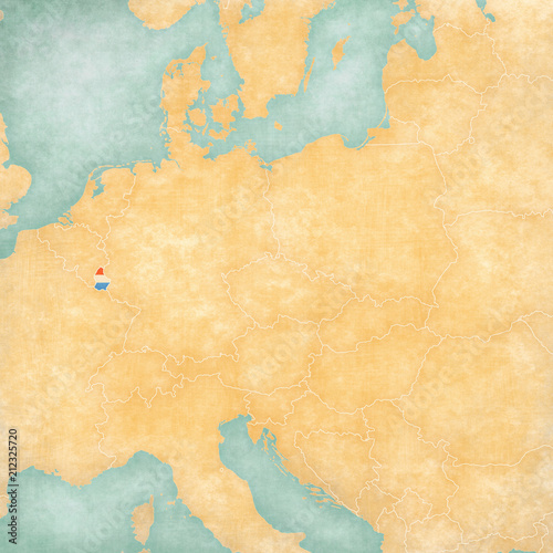 Fototapeta Map of Central Europe - Luxembourg