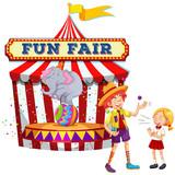 Fun Fair Show on White Background