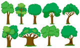 Set of various trees - 212335130