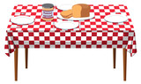 A Breakfast Table on White Background - 212335568