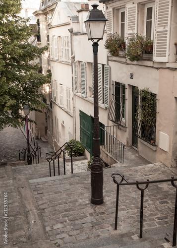 Fototapeta Stairs in Montmartre, Paris