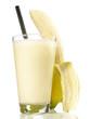 Leinwanddruck Bild - Milchshake - Banane