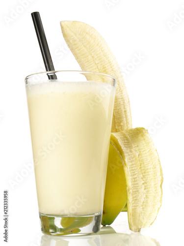 Leinwanddruck Bild Milchshake - Banane