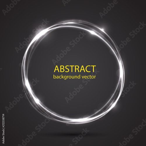 Vector abstract blue motion light effect background. - 212338714