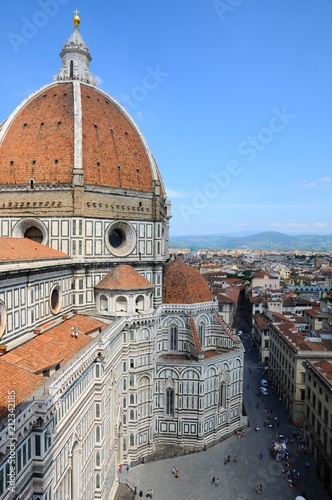 Fotobehang Florence The City Town and landscape of Florence in Italy