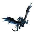 Leinwanddruck Bild - 3D Rendering Fantasy Dragon on White