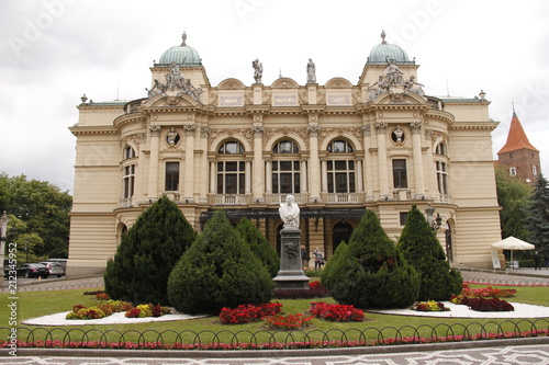 Fotobehang Krakau Cracovie - Théâtre Juliusz Słowacki