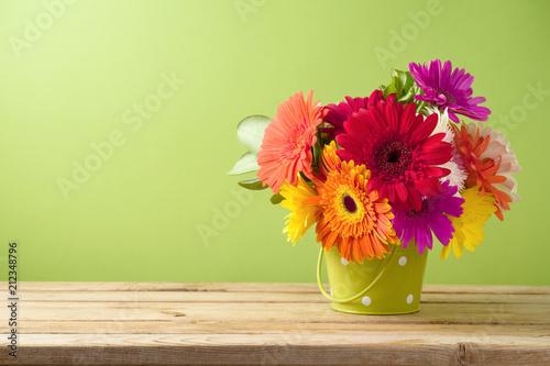 Foto Spatwand Gerbera Gerbera daisy flower boquet