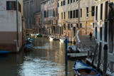 Buildings on a canal in Venice - 212351351