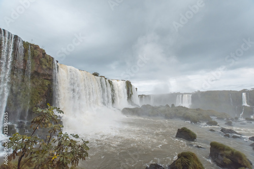The Iguaçu Falls is a group of about 275 waterfalls on the Iguaçu River in Brazil and Argentina. - 212360535