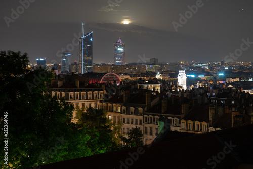 Pleine Lune sur Lyon © Maxime