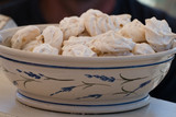 bowl of sweet egg white candies - 212373182